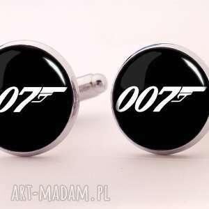 ręcznie robione spinki do mankietów agent 007 - spinki do mankietów