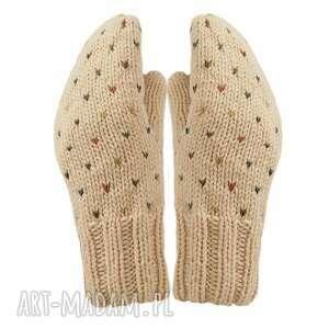 rękawiczki poke beżowe, z jednym palcem, prezent walentynkowy, walentynki dla niej