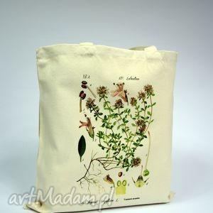 Torba Tyminanek - płócienna, torba, zakupy, ramię, uszy, płótno, bawełna