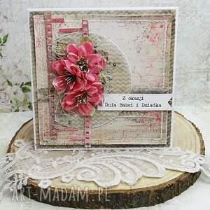 Prezent Dla Babci i Dziadka- kartka w pudełku, scrapbooking, dla-babci, dzień-babci