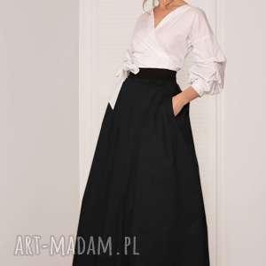 czarna spódnica maxi, spódnica, czarna, elegancka, rozkloszowana