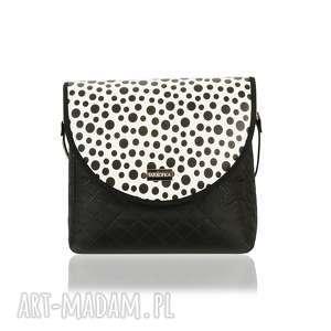 torebka puro classic 2351 black polka dots, classic, elegancka