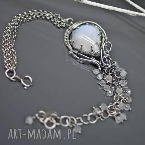 handmade kaskady kamienia księżycowego - bransoletka gilaras