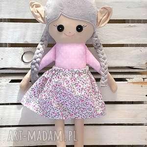 Szmacianka elf różowa łączka, szmacianka, szmaciana, lalka, szyta,
