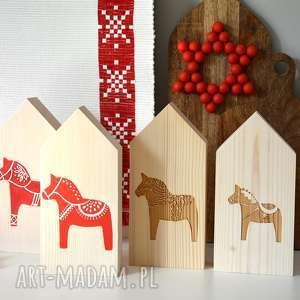 handmade dekoracje 4 domki folk