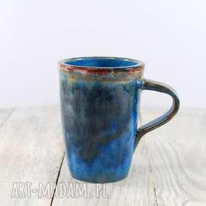 Kubek niebiesko-brązowy, do-kawy, do-herbaty, do-pracy, kawa, herbata, ceramiczny