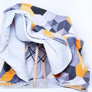 Narzuta Hexagons - YELLOW 155x205cm, szara-narzuta, narzuta-heksagony, heksagon