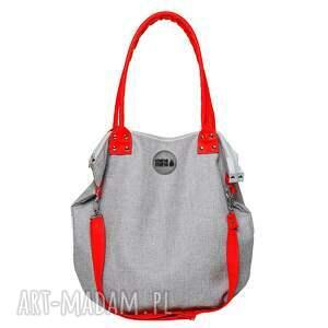 ręcznie zrobione na ramię torba worek city grey