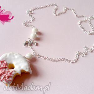 hand-made naszyjniki naszyjnik z pączkiem w białej czekoladzie
