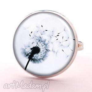 dmuchawiec - pierścionek regulowany egginegg, kwiatowy, prezent