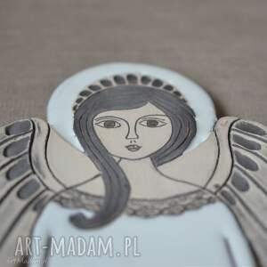 Anioł ceramiczny - Hvar, anioł, komunię, zawieszka, aniołek, ślub, płaskorzeźba