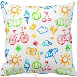 ręcznie robione pokoik dziecka poszewka na poduszkę dziecięca słoneczna słoneczka