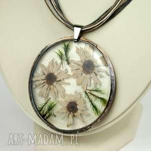 handmade naszyjniki naszyjnik z prawdziwymi kwiatami z41
