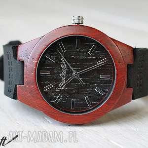 Damski drewniany zegarek BLACK WOODPECKER, damski, drewniany, zegarek, drewno, skóra