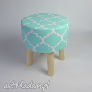 Puf stołek Fjerne S miętowa koniczyna, pokój, dzieci, dekoracja, stołek, puf, drewno