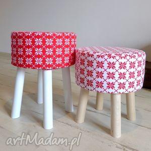 pomysł na upominek świąteczny Stołek Fjerne S (czerwone gwiazdki) , święta, meble
