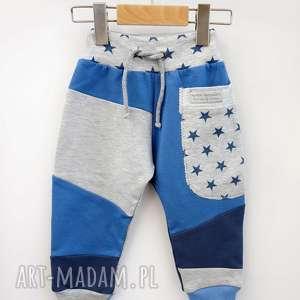 hand-made patch pants spodnie 110 - 152 cm gwiazdy