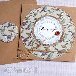 ręcznie robione kartki dziękuję: kartka handmade:: podziękowanie