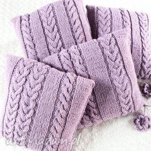 ręcznie wykonane poduszki poduszki robione ręcznie wełna 40x40 cm 4szt