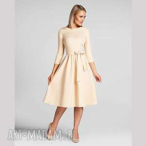 livia clue sukienka marie 3/4 midi vanillia, midi, za kolano