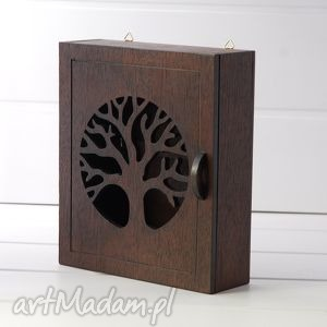 ręcznie robione dekoracje skrzynka na klucze - drzewo wenge