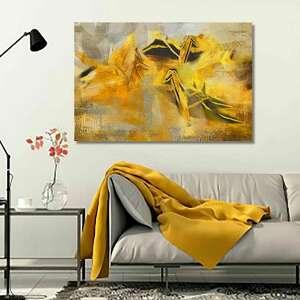 obraz na płótnie origami 120x80, obrazy do salonu, efektowne, złoty