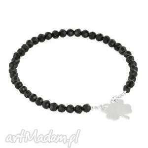 celebrate - black crystals with clover - celebrytka, koniczynka