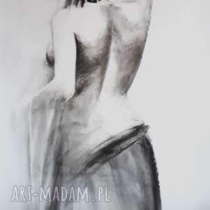 Prezent nude!, duży-obraz-kobieta, duży-rysunek-kobieta, zmysłowa-kobieta