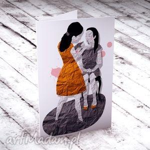 hand-made kartki mama i córka - Karteczka na życzenia