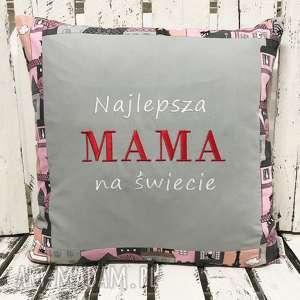 majunto poduszka prezent najlepsza mama na świecie 40x40cm, dzień mamy, matka
