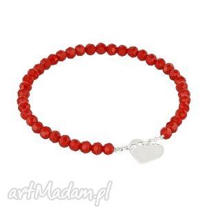celebrate - red crystals with heart - kryształki, serce