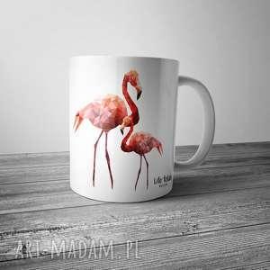 Prezent Kubek z flamingami, flamingi, flaming, kubek, kawa, herbata, prezent