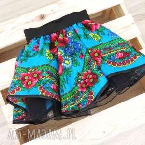 hand-made ubranka spódniczka folkowa cleo góralska 1-3 lata z chusty