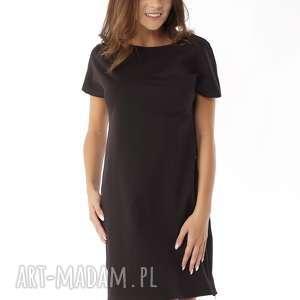 Sukienka dresowa z zamkami czarna, polski-producent, sportowa-sukienka