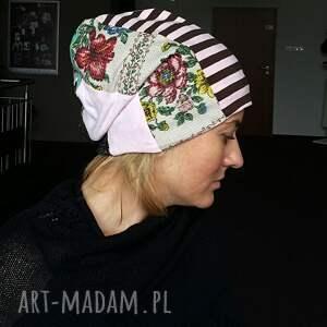 czapka patchworkowa damska etno boho ludowa , czapka, etno, boho, damska, orient,