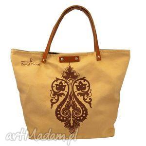 handmade torebki zamszowy dzban obfitości