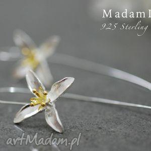 925 srebrne kolczyki lilia - lilie, kwiaty, kolczyki, srebro, elegancja, natura