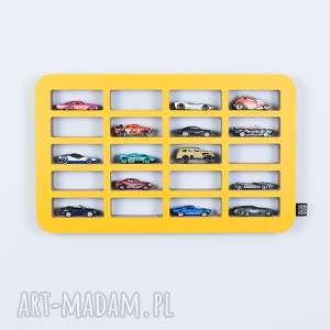 Półka na resoraki SAMOCHODZIKI hot wheels | żółty, chłopiec, dziewczynka, organizer