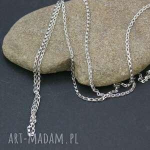 łańcuszek srebrny - naszyjnik, łańcuszek, srebrny, długi, srebro
