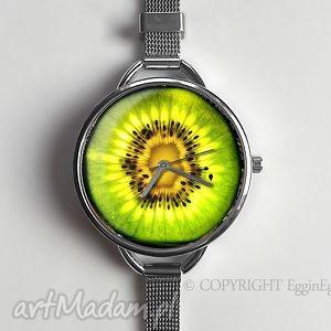 kiwi - zegarek z dużą tarczką 0947ws - zegarek, kiwi, owocowy, owoce, prezent