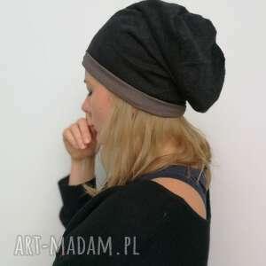 czarna damska czapka z dzianiny swetrowej przylegająca do głowy, dobra