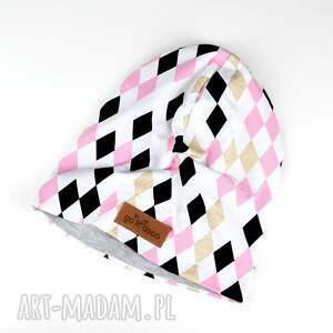 Prezent Czapka beanie kolorowa trójkąty, czapka, kolorowa, beanie, ciepła, prezent