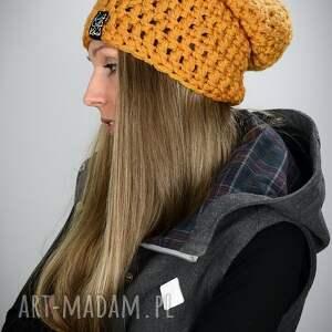 czapka mono 15 - musztardowa, czapa, czapy, kolorowa czapka, na snowboard