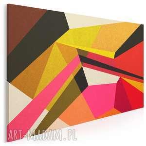 obraz na płótnie - kształty kolory 120x80 cm 44301, kolory, nowoczesny