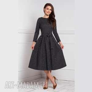 Sukienka marie 3 4 midi donata grochy średnie sukienki livia