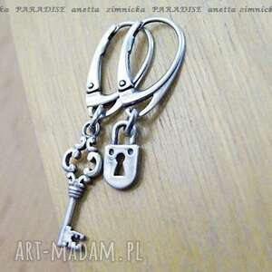 srebro kolczyki srebrna intryga ii, srebro, zawieszki, kluczyk