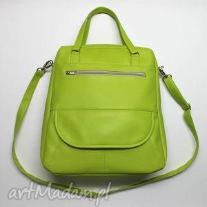 Prezent Listonoszka XXL - zielony limonka, elegancka, nowoczesna, praktyczna, prezent