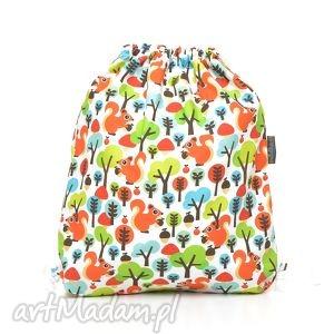 pracownia-milutka plecak worek przedszkolaka wiewiórki