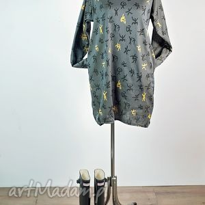 igrzyska-sukienka, bluza, kaptur, midi, kieszenie, efektowna, sukienka sukienki