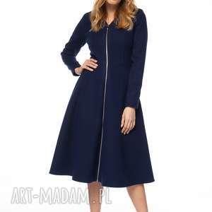 płaszcze płaszcz snezan, midi, jesienny, stylowy, flauszowy, elegancki